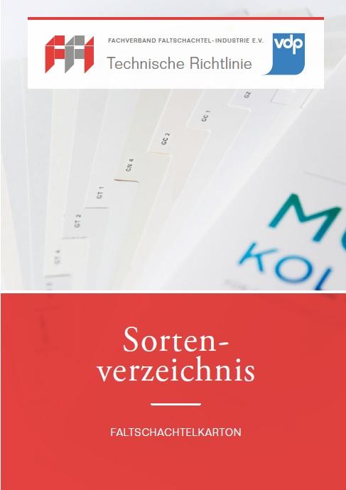 Sortenverzeichnis für Faltschachtelkarton